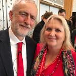 Karen Constantine with Jeremy Corbyn