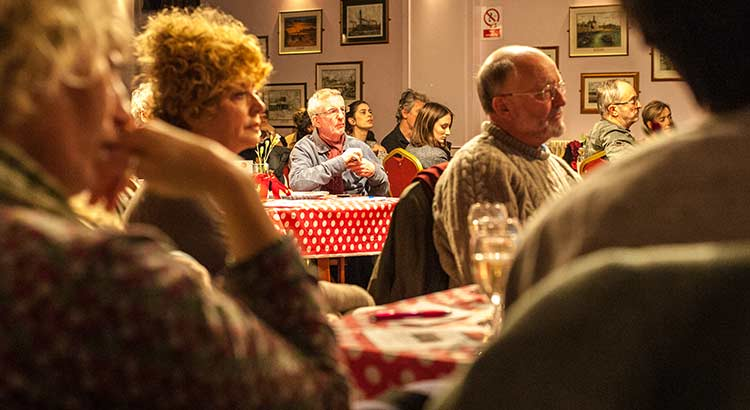 Image - Listening to the debate at a Thanet Fabians meeting.