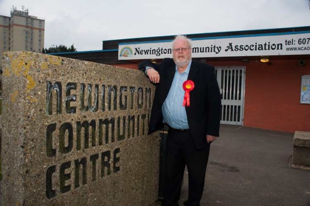Image of David Green outside Newington Community Centre
