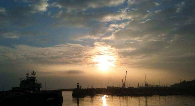 Ramsgate Port at sunrise. Photo by Dan Lovatt