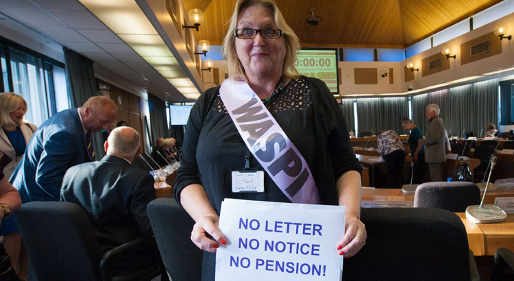 Councillor Karen Constantine supports the WASPI campaign at Thanet District Council