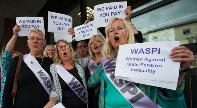 WASPI campaigners outside Thanet District Council in Margate