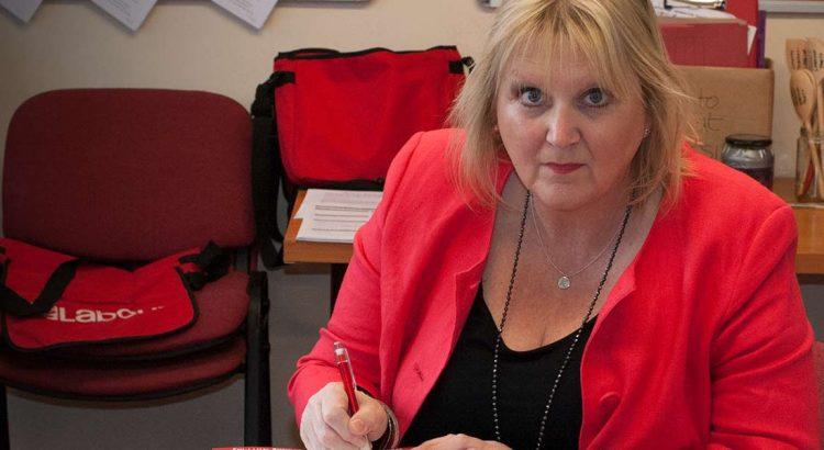 Labour's Karen Constantine at work in Newington, Ramsgate, Thanet, Kent.