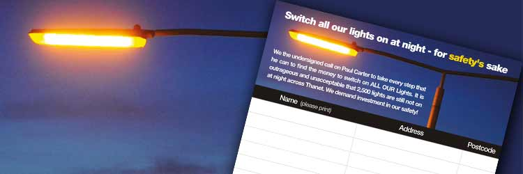 Thanet street light campaign petition