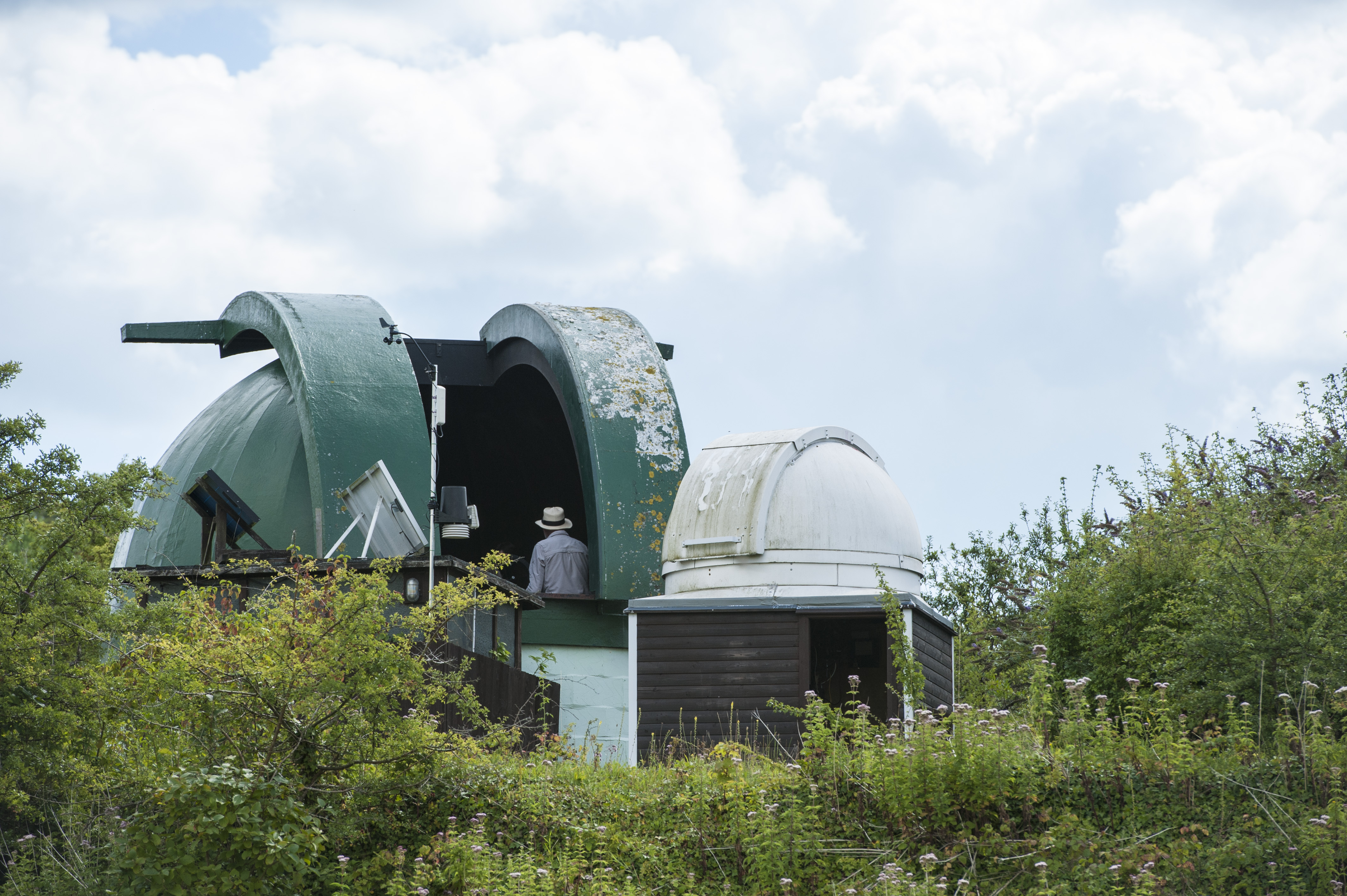 The Monkton Stargazers' observatory in Monkton Nature Reserve. Image by Chris Constantine.