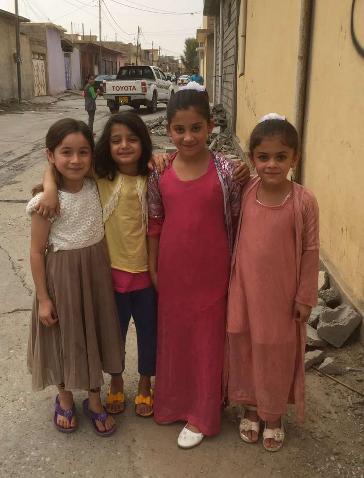 Kids on the street in Kurdistan
