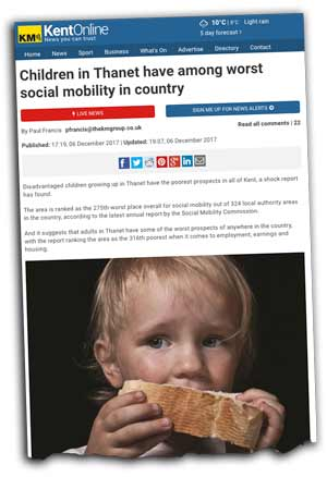 Kent Messenger social mobility in Thanet screen grab