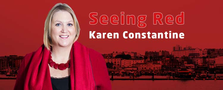 Karen Constantine, Seeing Red graphic