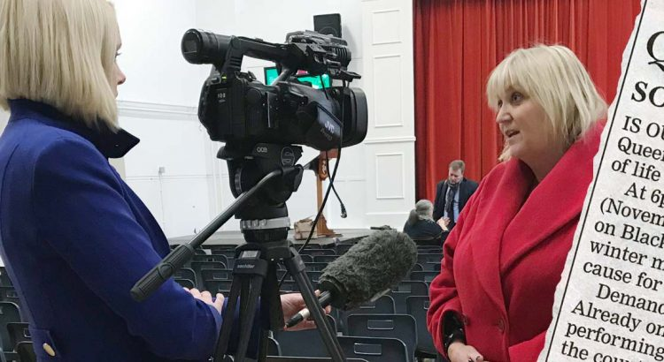 Leanne Rinne interviews Karen Constantine for BBC South East Today