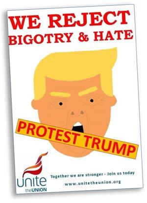 Unite Protest Trump poster