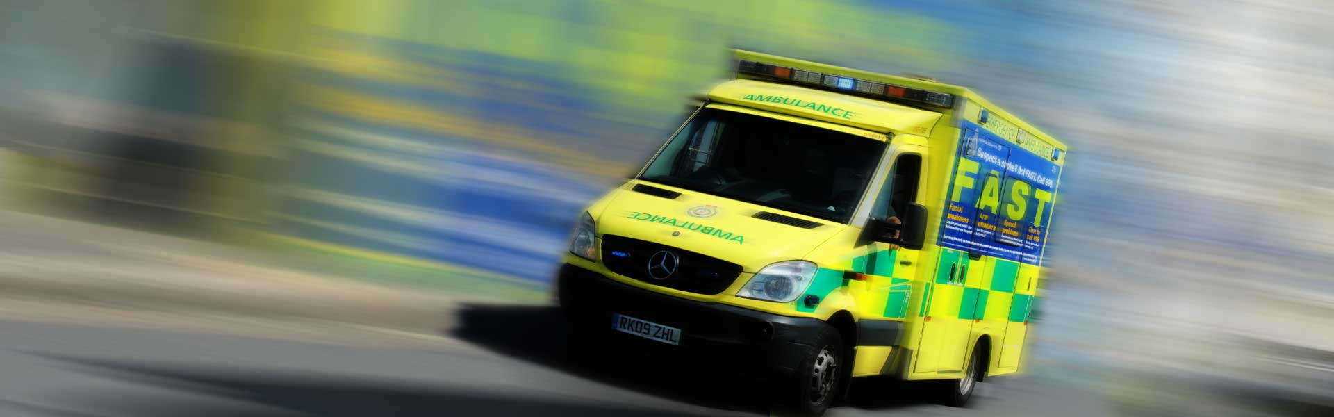 Kent Ambulance with stroke advice on side