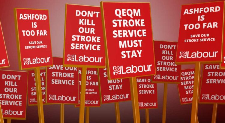 Labour Party placards - SAVE OUR STROKE SERVICE - Karen4Labour