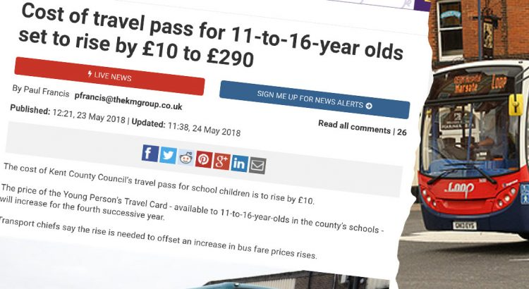 Kent bus pass story header image