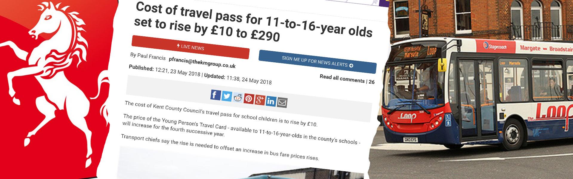 Kent bus pass story header image