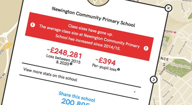 Newington Primary School cuts screen header