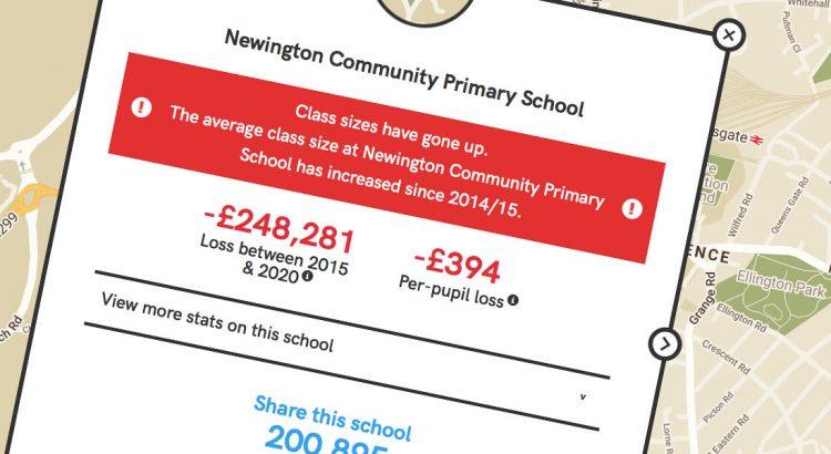 Newington Primary School cuts screen header