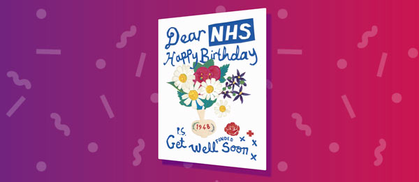 Labour Party NHS birthday card