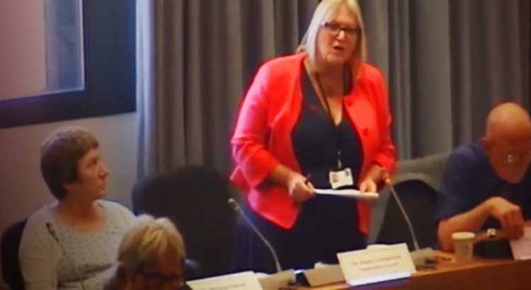 Karen Constantine asking a social housing question at Thanet District Council