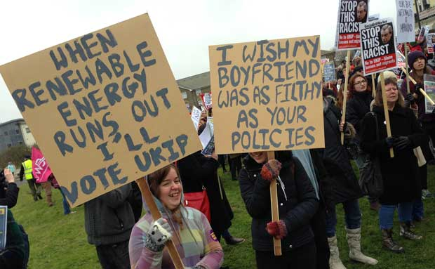Stop Farage protesters in 2015