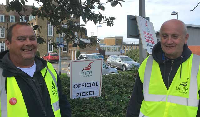 NHS staff on strike