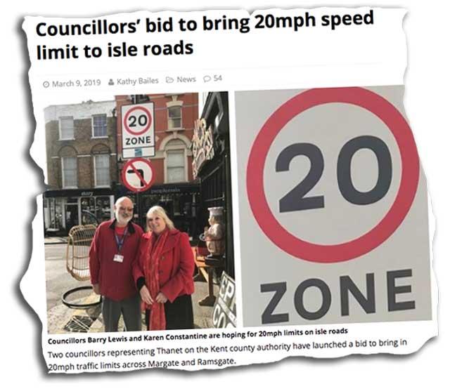 20s Plenty Isle of Thanet News cutting