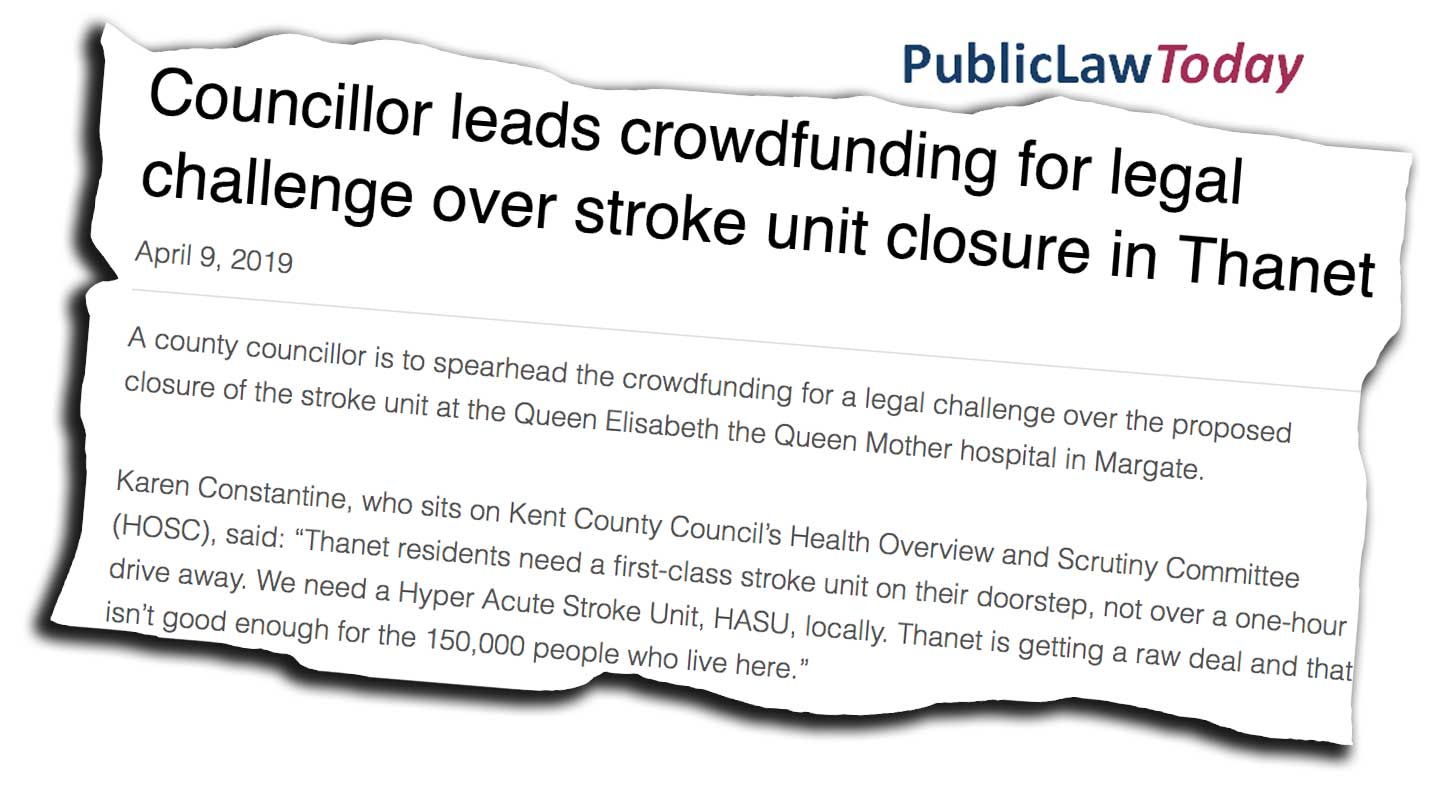 Thanet Stroke Campaign coverage in Public Law Today