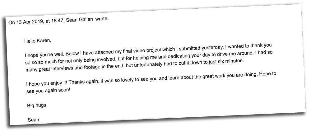 Email from Sean Gallen