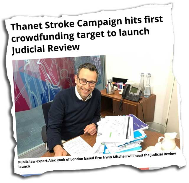 Thanet Stroke Campaign story clipping