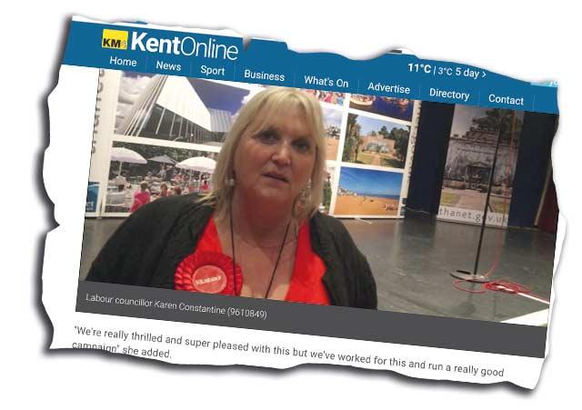 Karen Constantine in Kent Online