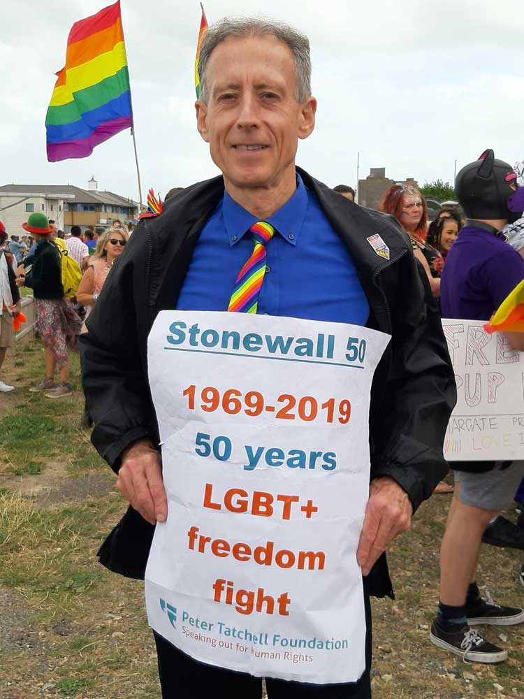 Peter Tatchell marks 50 years since the Stonewall riots.