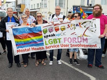 The Speak Up CIC Team at Margate Pride