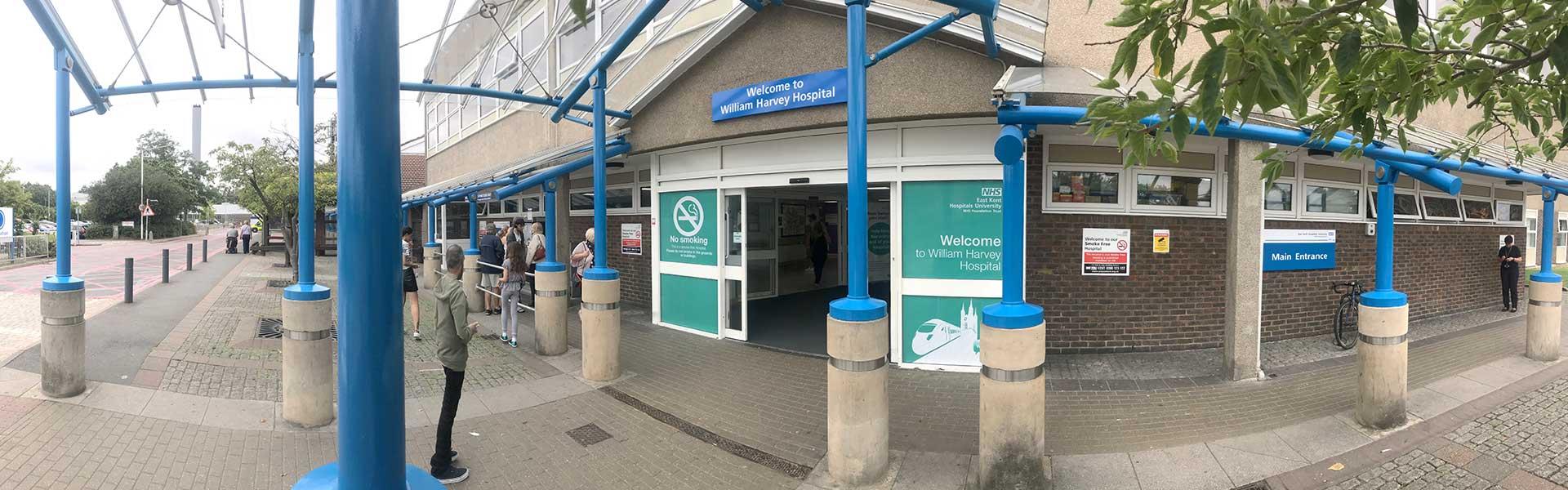 William Harvey Hospital in Ashford, Kent