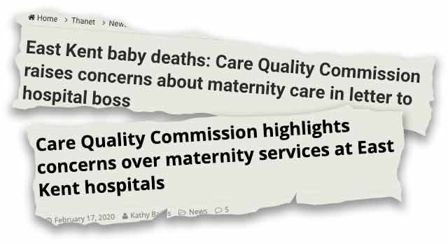 Maternity health news clippings