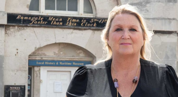 Kent County Councillor for Ramsgate, Karen Constantine outside Ramsgate Maritime Museum.