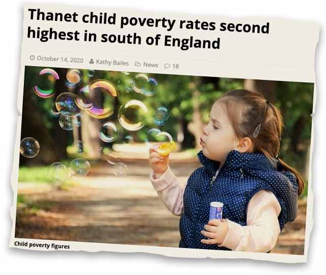 Child poverty news clipping