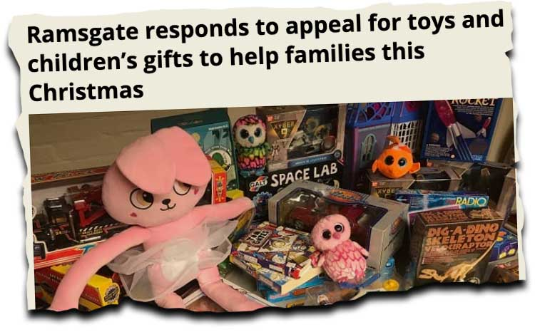 Christmas toy appeal news clipping