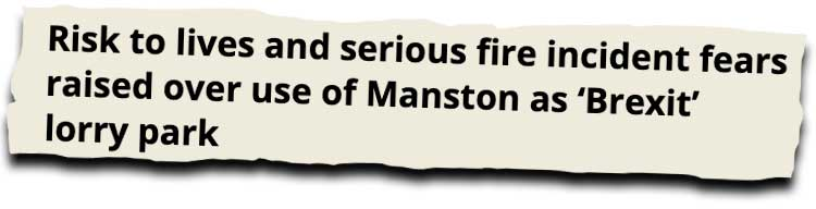Manston lorry park news clipping